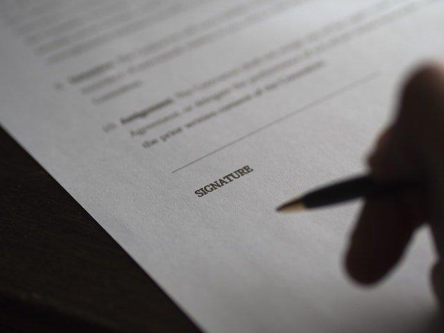 signature on estate planning